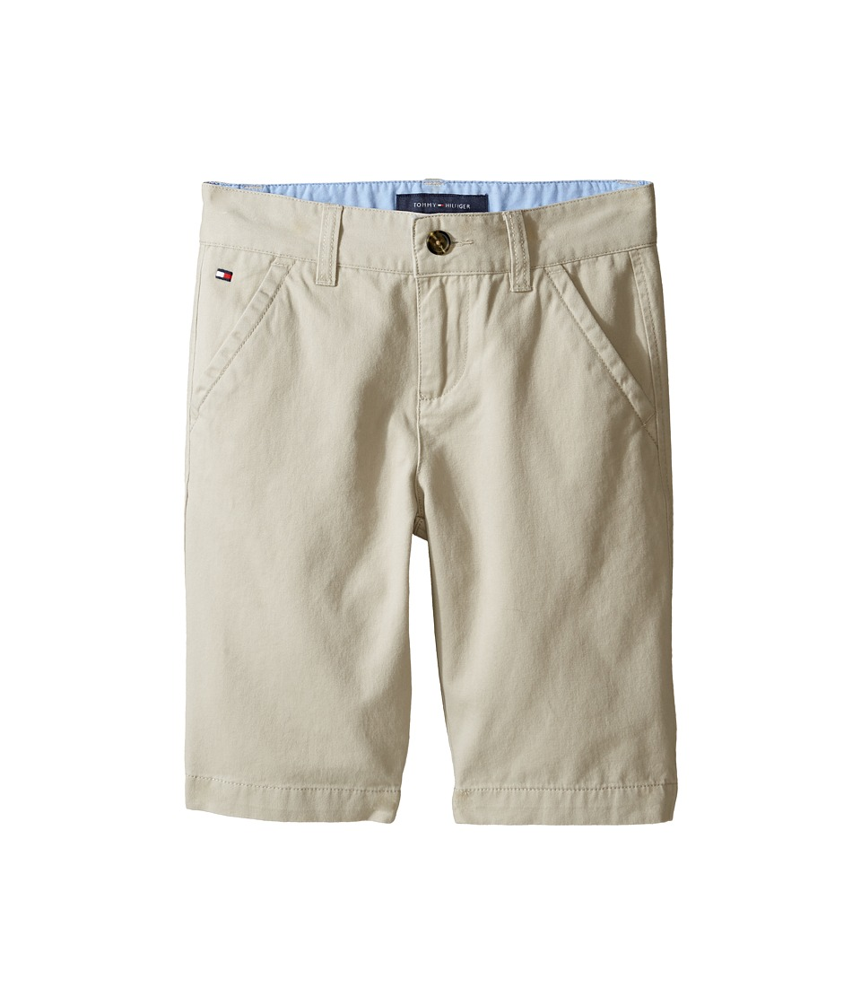 Tommy Hilfiger Kids - Chester Twill Shorts with Oxford (Big Kids) (Light Stone) Boy's Shorts