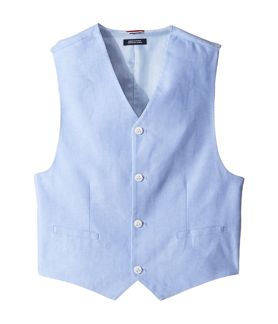 Tommy Hilfiger Kids - Oxford Vest (Big Kids) (Medium Blue) Boy's Vest