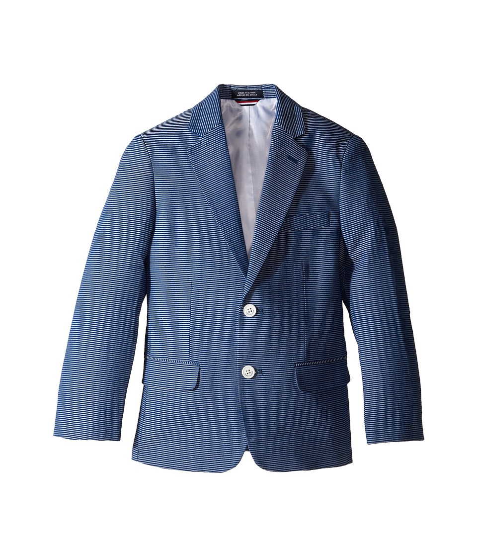 Tommy Hilfiger Kids - Horizontal Stripe Blazer (Big Kids) (Dark Blue) Boy's Clothing