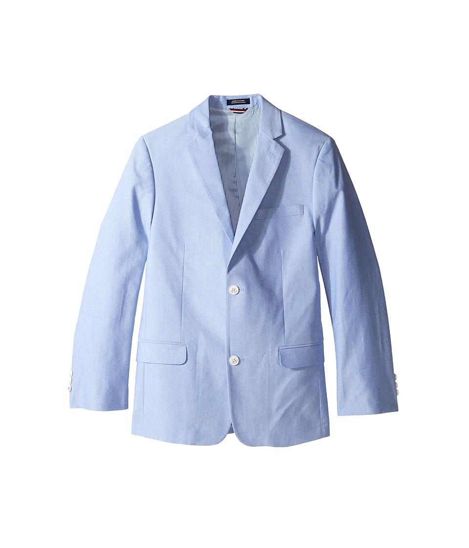 Tommy Hilfiger Kids - Oxford Jacket (Big Kids) (Medium Blue) Boy's Clothing