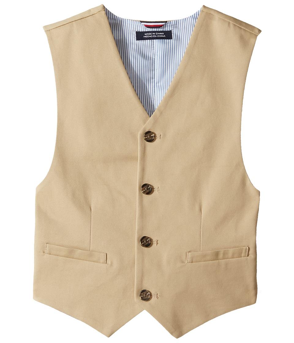 Tommy Hilfiger Kids - Fine Twill Vest (Big Kids) (Medium Khaki) Boy's Vest