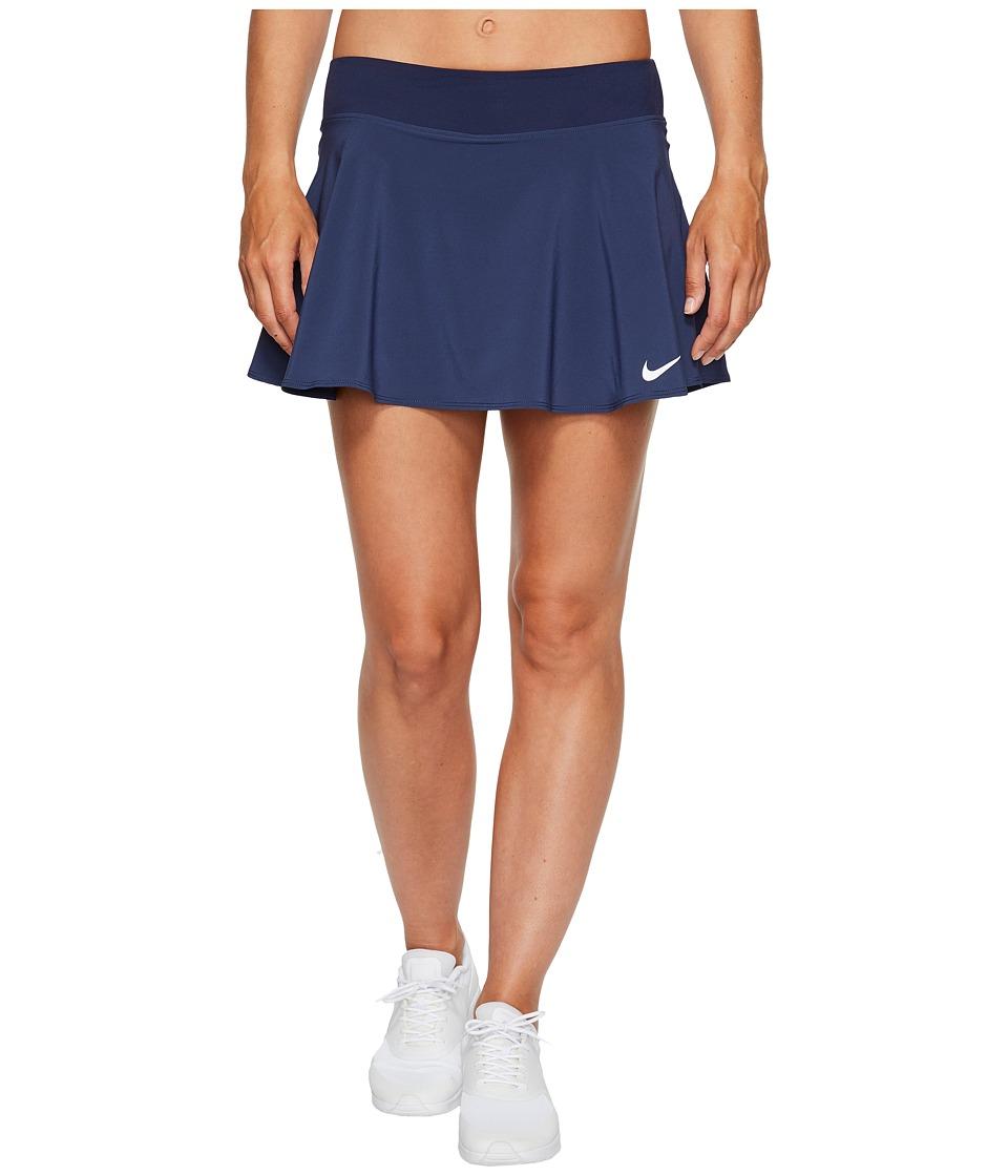 Nike Nike Court Flex Pure Tennis Skirt (Midnight Navy/White) Women