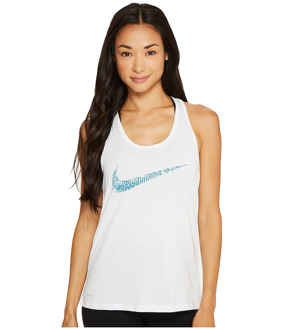 Nike - Dry Soccer Tank (White) Women's Sleeveless