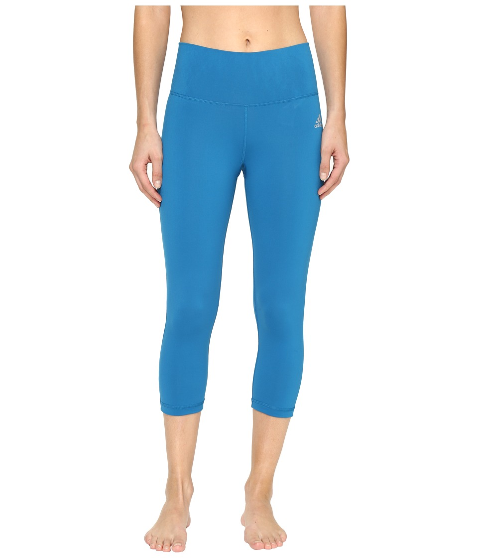 adidas - Performer Mid-Rise 3/4 Tights (Unity Blue) Women's Workout