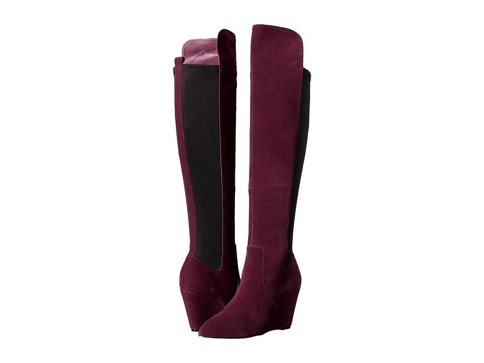 Charles by Charles David Edie Merlot Womens Zip Boots