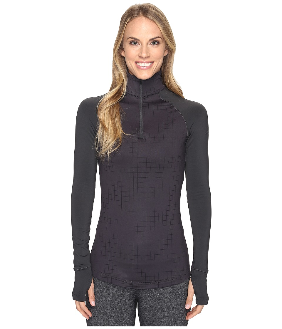 adidas - Techfit Cold Weather 1/2 Zip (Utility Black Print) Women's Clothing