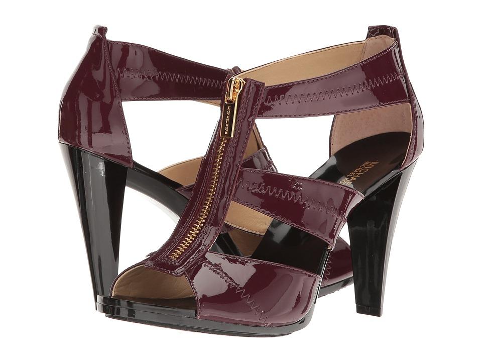 MICHAEL Michael Kors - Berkley T-Strap (Plum) Women's Shoes