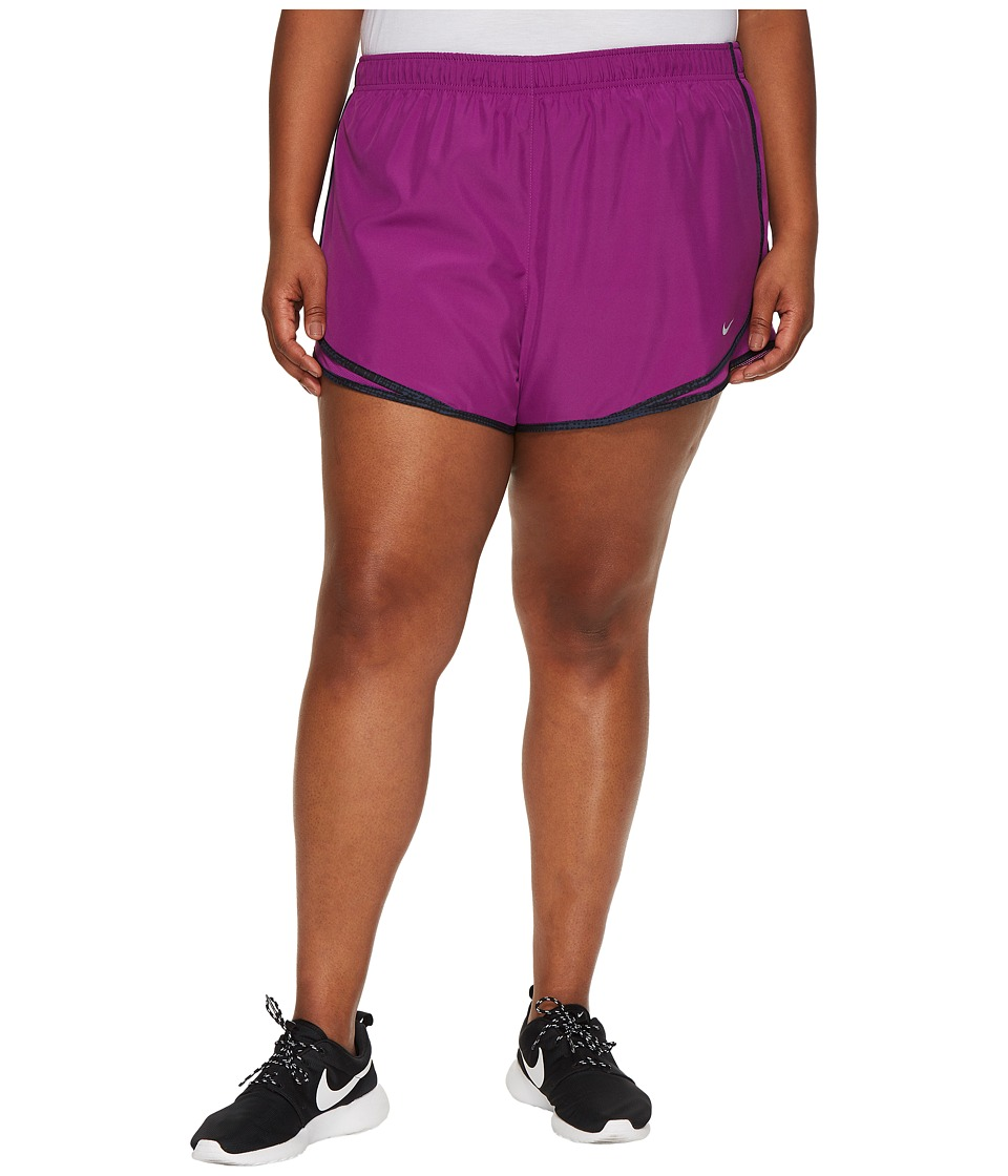Nike Dry Tempo 3 Running Short (Size 1X-3X) (Bold Berry/Black/Wolf Grey/Wolf Grey) Women