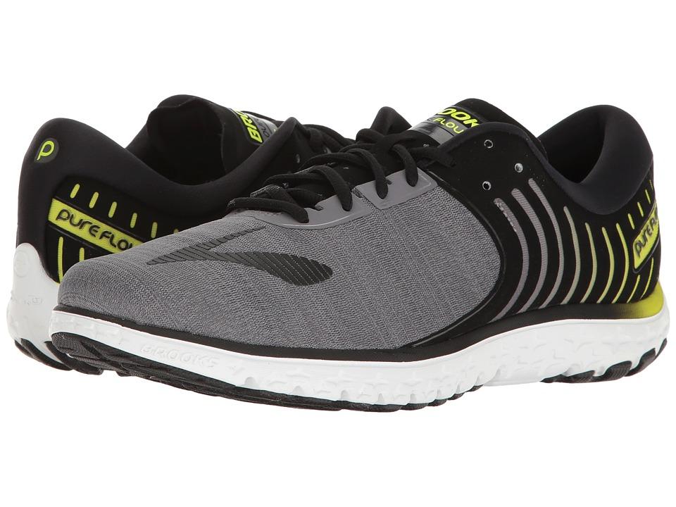 Brooks PureFlow 6 (Black/Ebony/Lime Popsicle) Men's Running Shoes