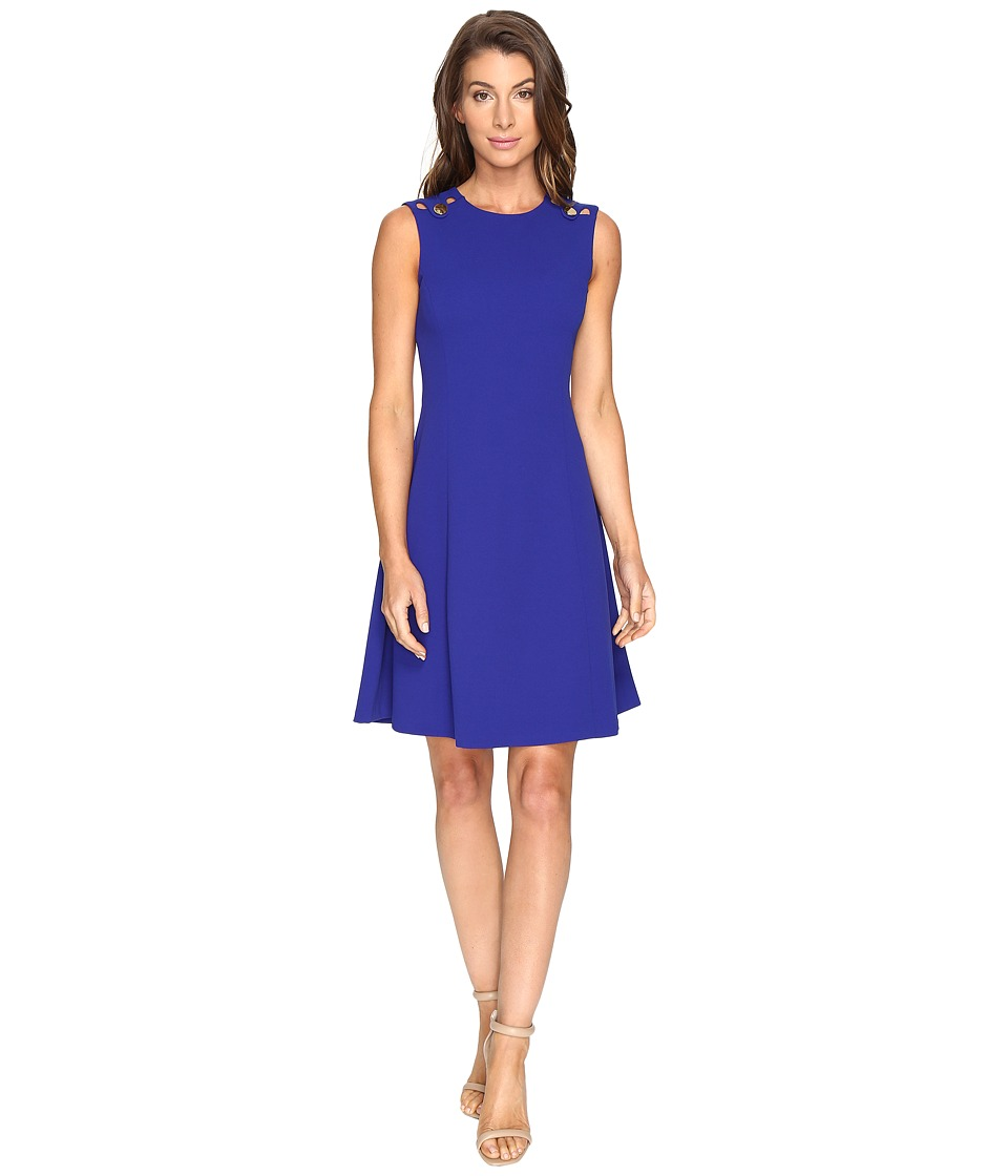 Calvin Klein - Fit and Flare Dress CD7C125E (Atlantis) Women's Dress