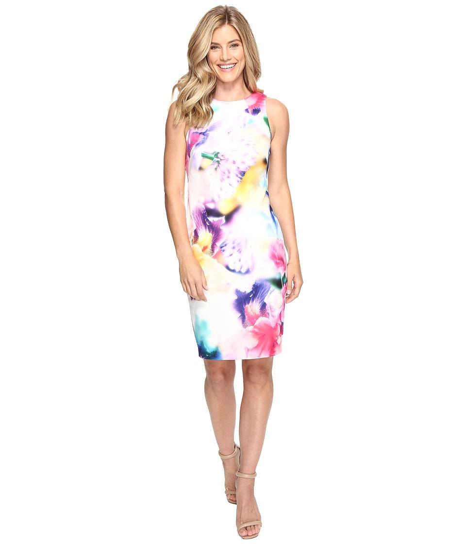 Calvin Klein Floral Sheath Dress CD7C225K (Multi) Women