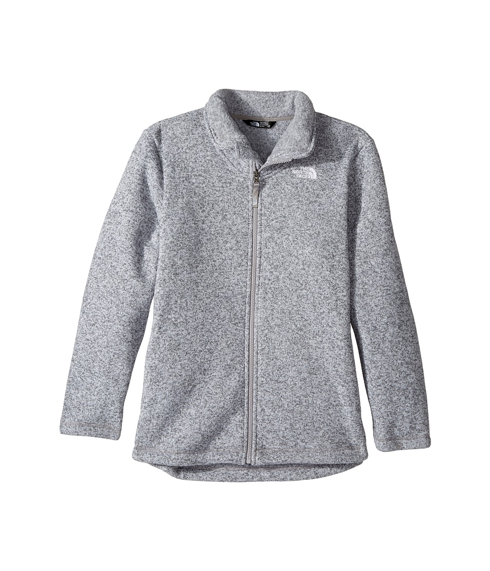 The North Face Kids Crescent Full Zip (Little Kids/Big Kids) (TNF Light Grey Heather (Prior Season)) Girl