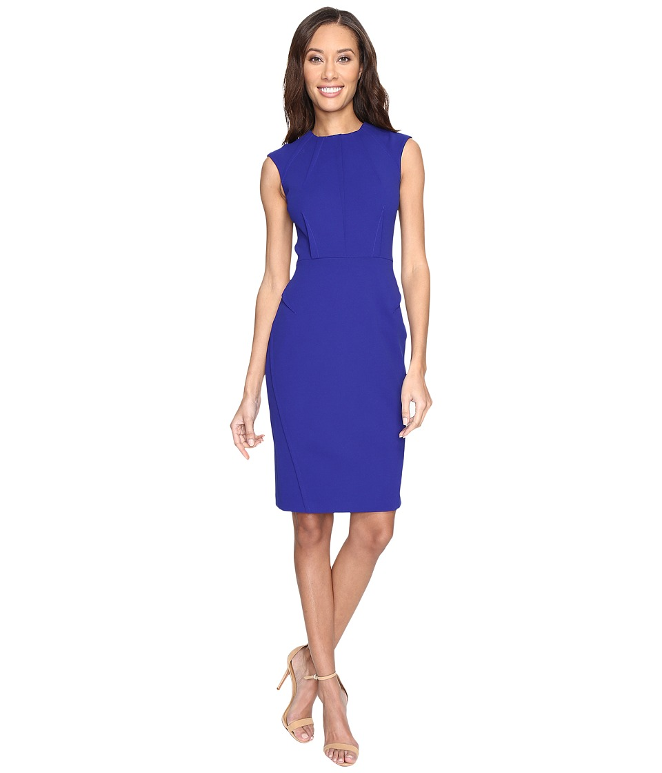 Calvin Klein - Cap Sleeve Sheath Dress CD7C103A (Atlantis) Women's Dress