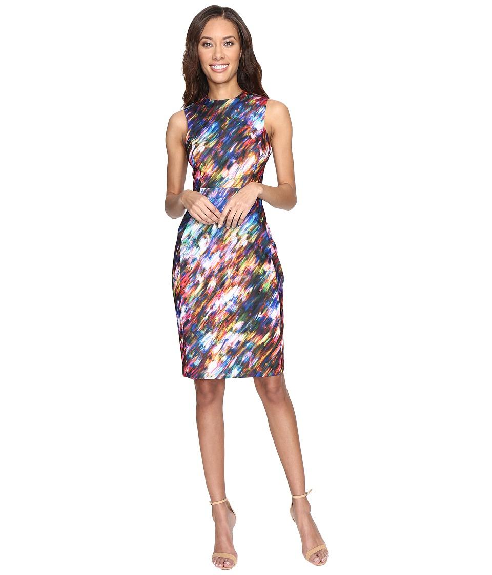 Calvin Klein Blured Print Sheath Dress CD7C4903 (Ultramarine Multi) Women