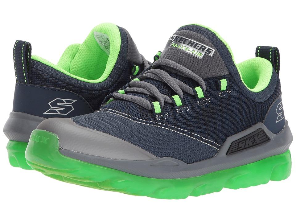 SKECHERS KIDS - Skech-Air 97580L (Little Kid/Big Kid) (Navy/Lime) Boy's Shoes