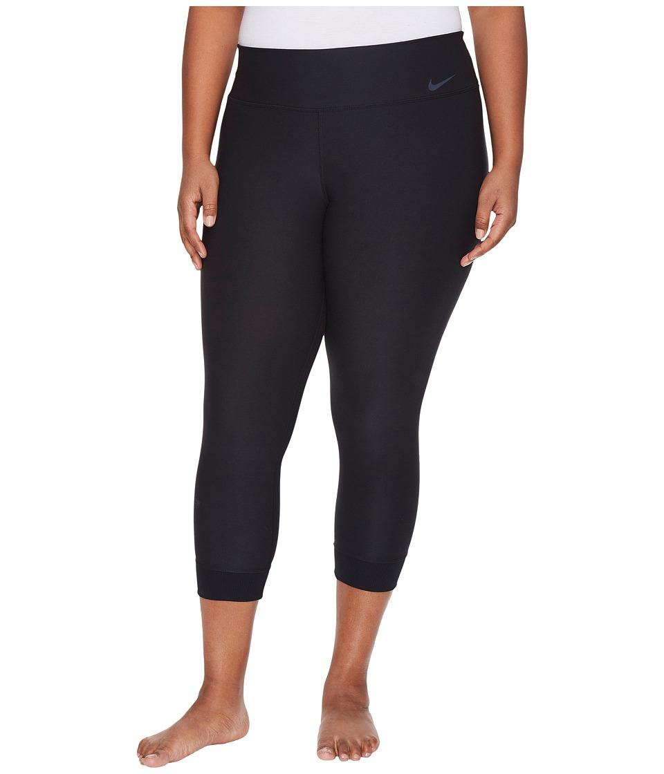 Nike Power Legend Training Crop (Size 1X-3X) (Black/Cool Grey) Women