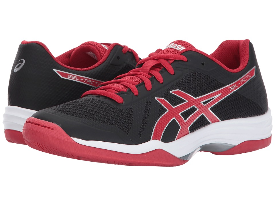 ASICS - Gel-Tactic 2 (Black/Prime Red/Silver) Women's Volleyball Shoes