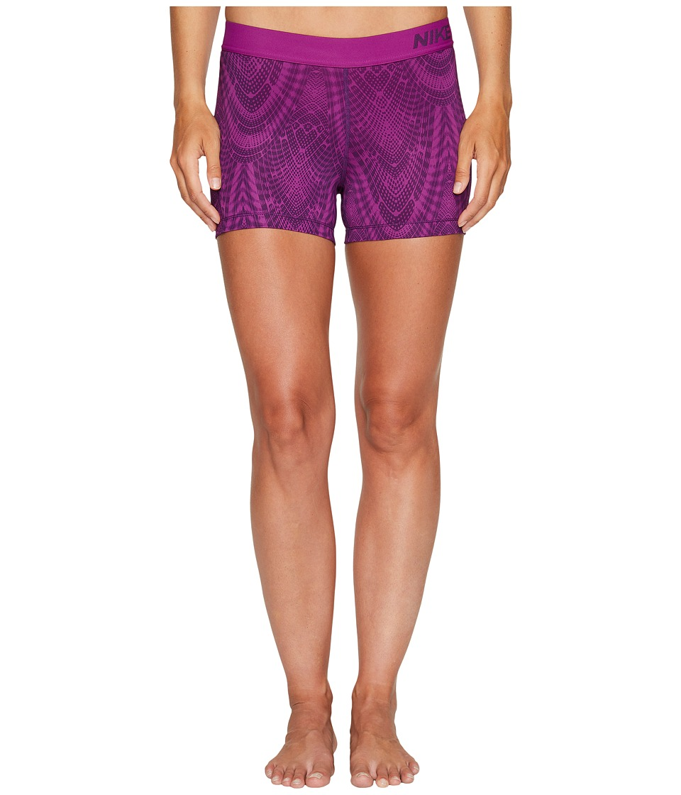 Nike - Pro Training Short (Night Purple/Bold Berry/Bold Berry) Women's Shorts