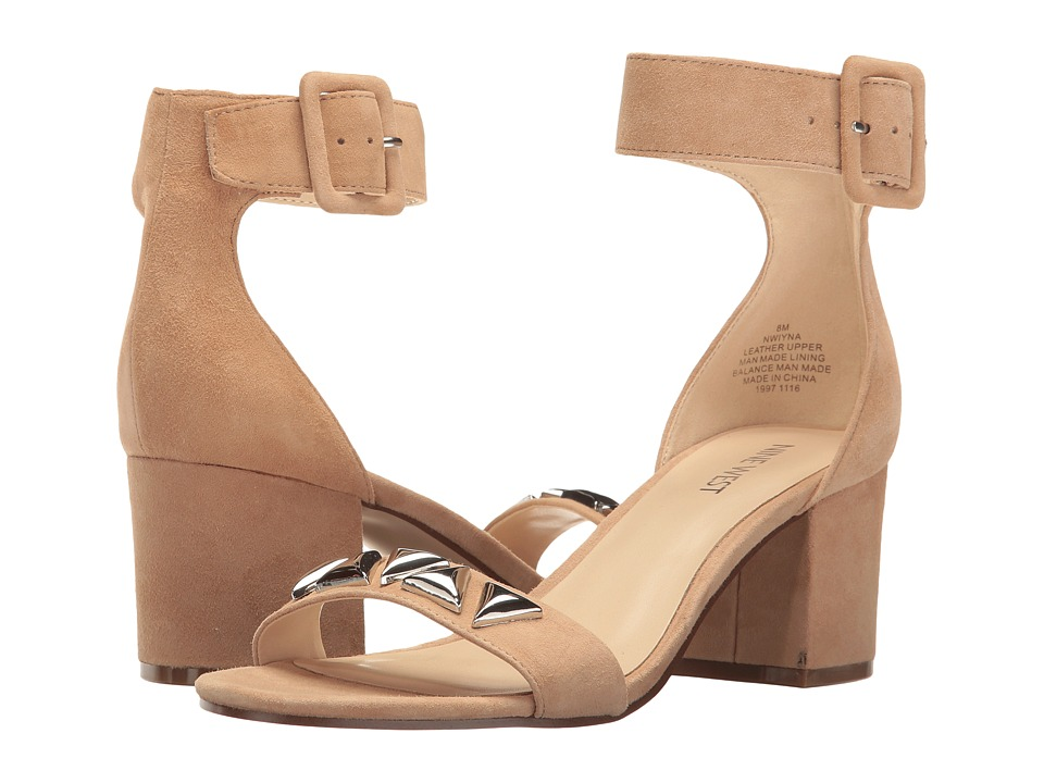 Nine West - Iyna (Natural Suede) Women's 1-2 inch heel Shoes