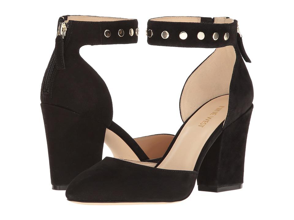 Nine West - Sharmain (Black Suede) High Heels