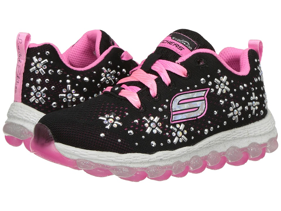 SKECHERS KIDS - Skech-Air Ultra Sparklebeam 80100L (Little Kid/Big Kid) (Black/Pink) Girl's Shoes