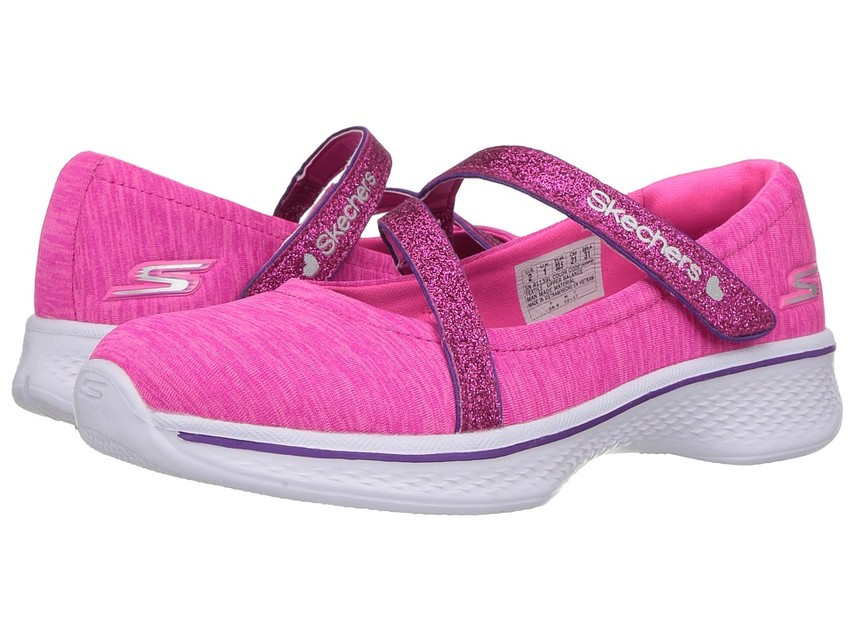 SKECHERS KIDS - Go Walk 4 81139L (Little Kid/Big Kid) (Hot Pink/Purple) Girl's Shoes