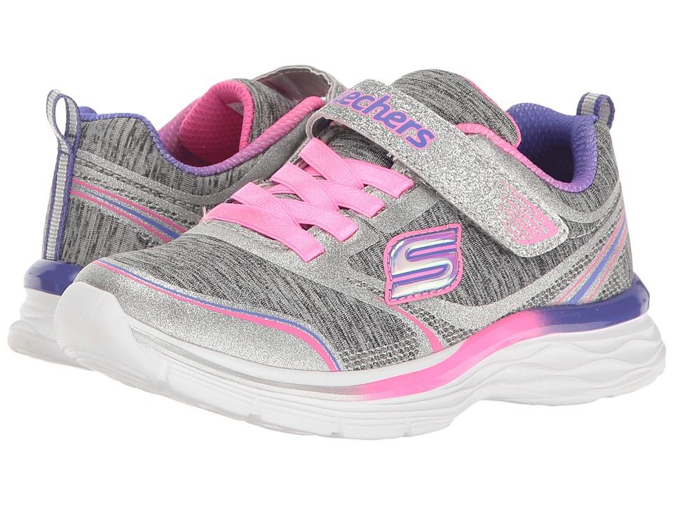 SKECHERS KIDS - Dream N' Dash Peppy Prance 81465L (Little Kid/Big Kid) (Gray/Pink) Girl's Shoes