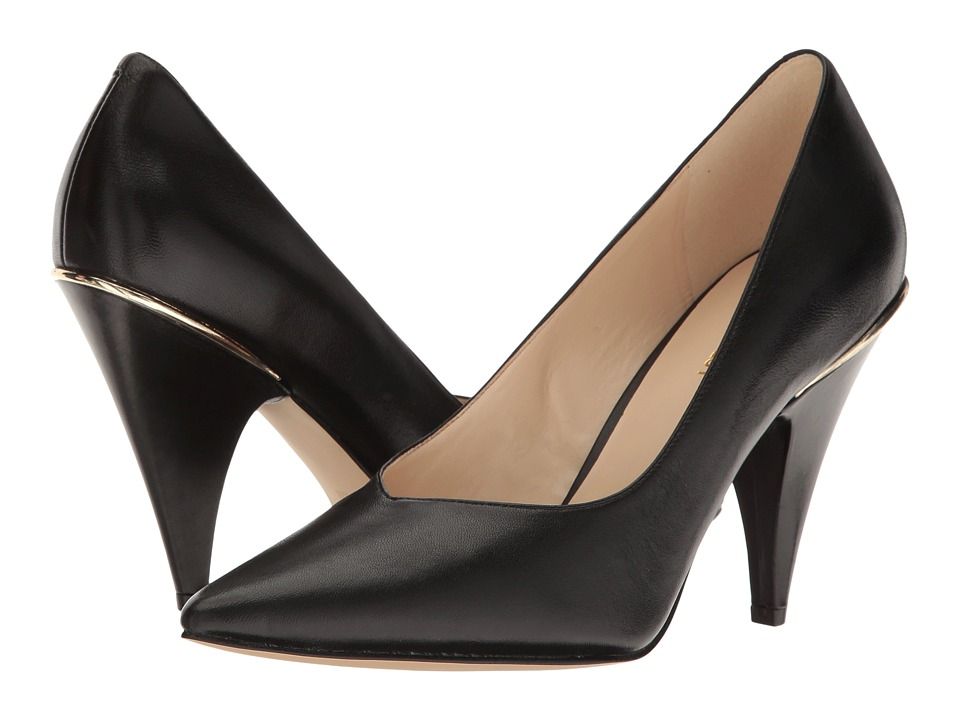 Nine West - Whistles (Black Leather) Women's Shoes