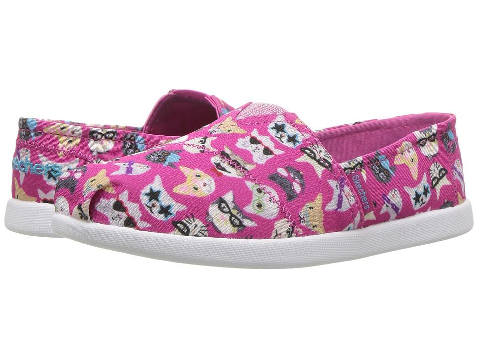 SKECHERS KIDS - Solestice 85289L (Little Kid/Big Kid) (Hot Pink/Multi) Girl's Shoes