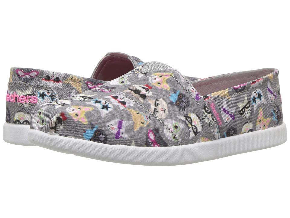 SKECHERS KIDS - Solestice 85289L (Little Kid/Big Kid) (Gray/Multi) Girl's Shoes