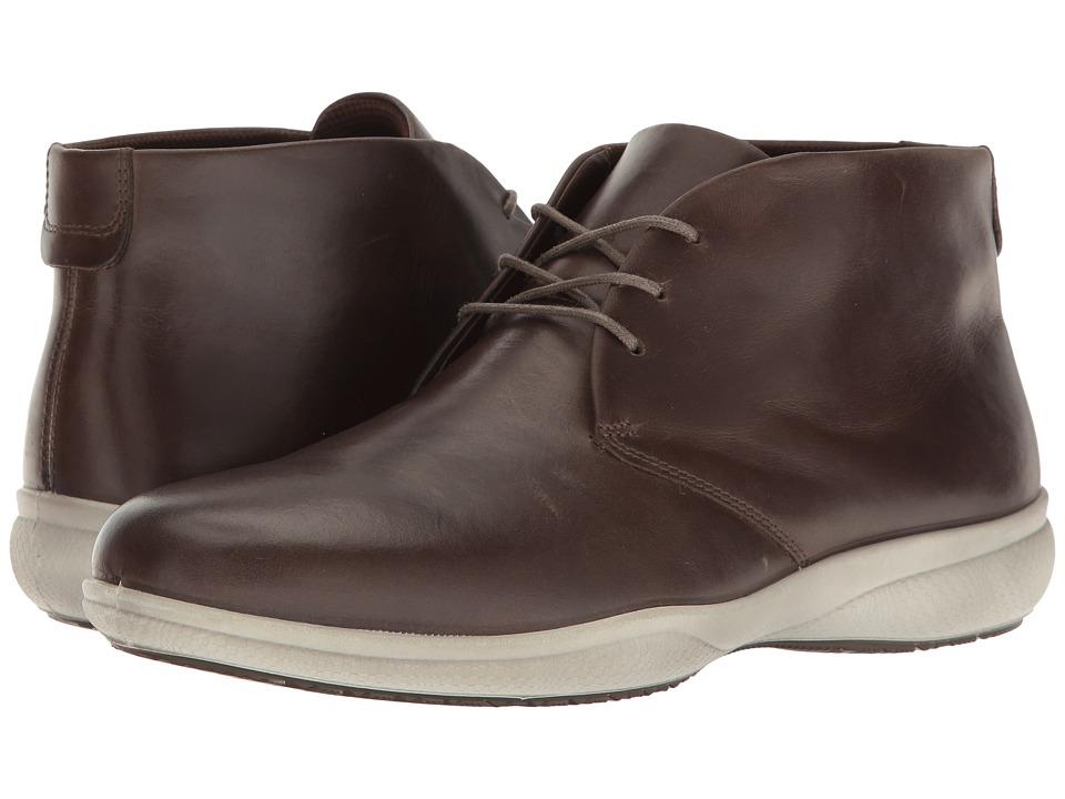 ECCO - Grenoble Modern High (Dark Clay) Men's Shoes