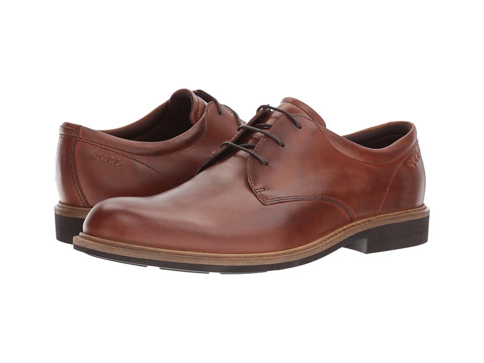 ECCO Findlay Plain Toe Tie (Cognac) Men