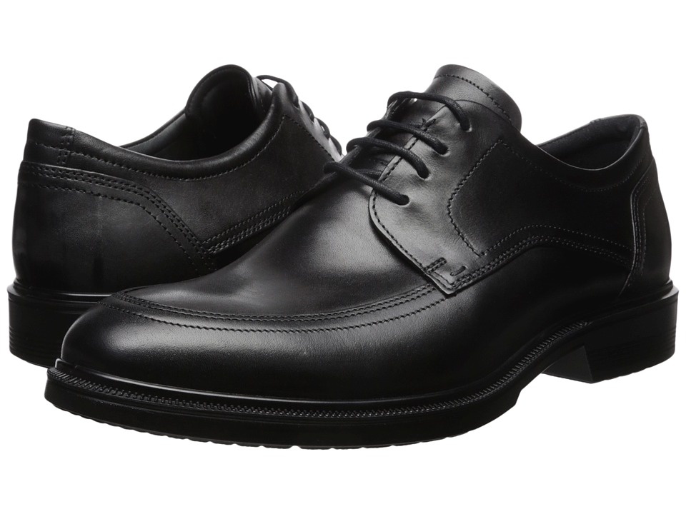 ECCO - Lisbon Apron Toe Tie (Black) Men's Shoes