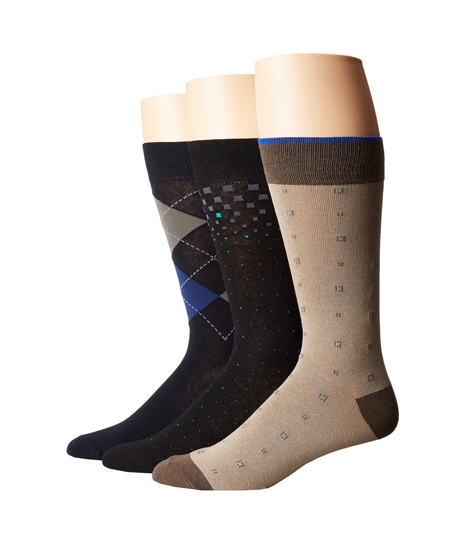 Florsheim - Limited 3-Pack Socks (Multi) Men's Thigh High Socks Shoes