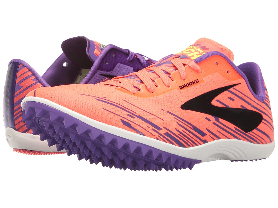 Brooks - Mach 18 Spikeless (Fiery Coral/Electric Purple/Black) Women's Running Shoes