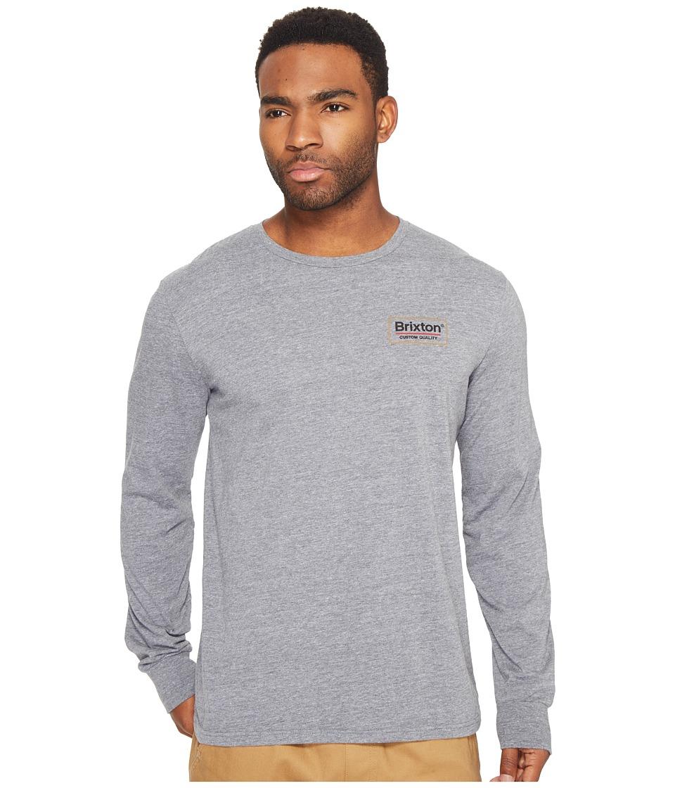Brixton - Palmer Long Sleeve Premium Tee (Heather Grey) Men's T Shirt