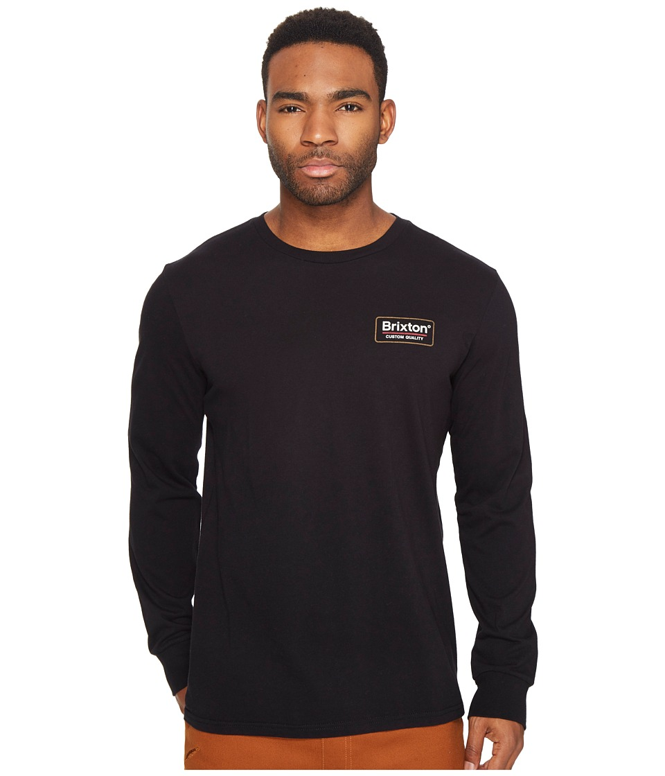 Brixton - Palmer Long Sleeve Premium Tee (Black) Men's T Shirt