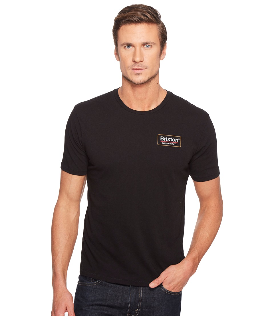 Brixton - Palmer Short Sleeve Premium Tee (Black) Men's T Shirt