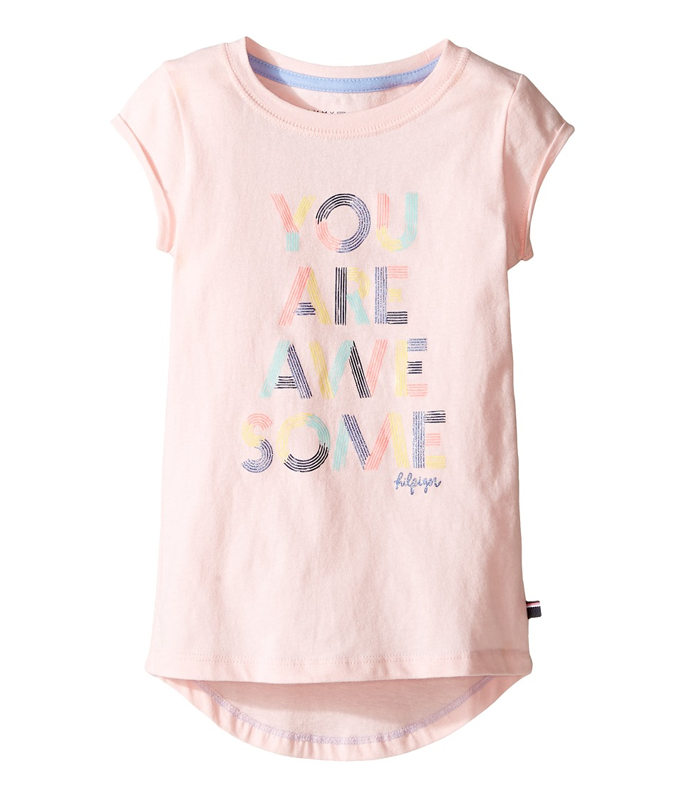 Tommy Hilfiger Kids - Awesome Graphic Tee (Little Kids) (Crystal Rose) Girl's T Shirt