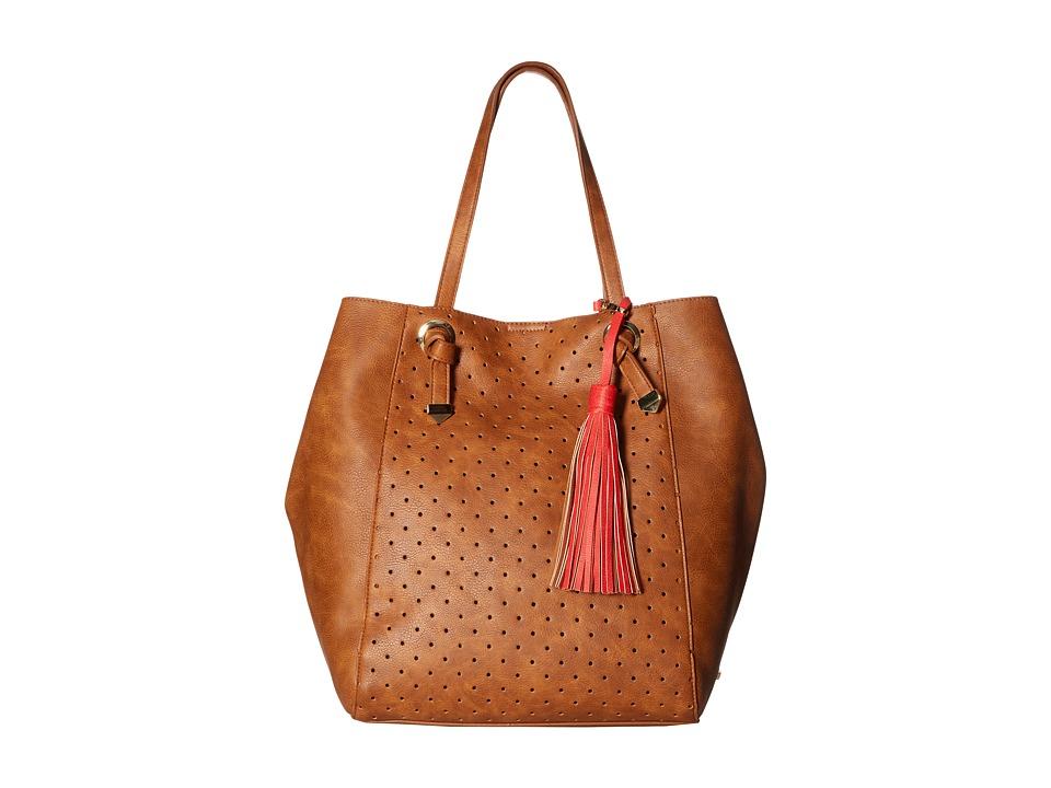 Steve Madden - Bwilde Perf Tote (Cognac/Coral) Tote Handbags