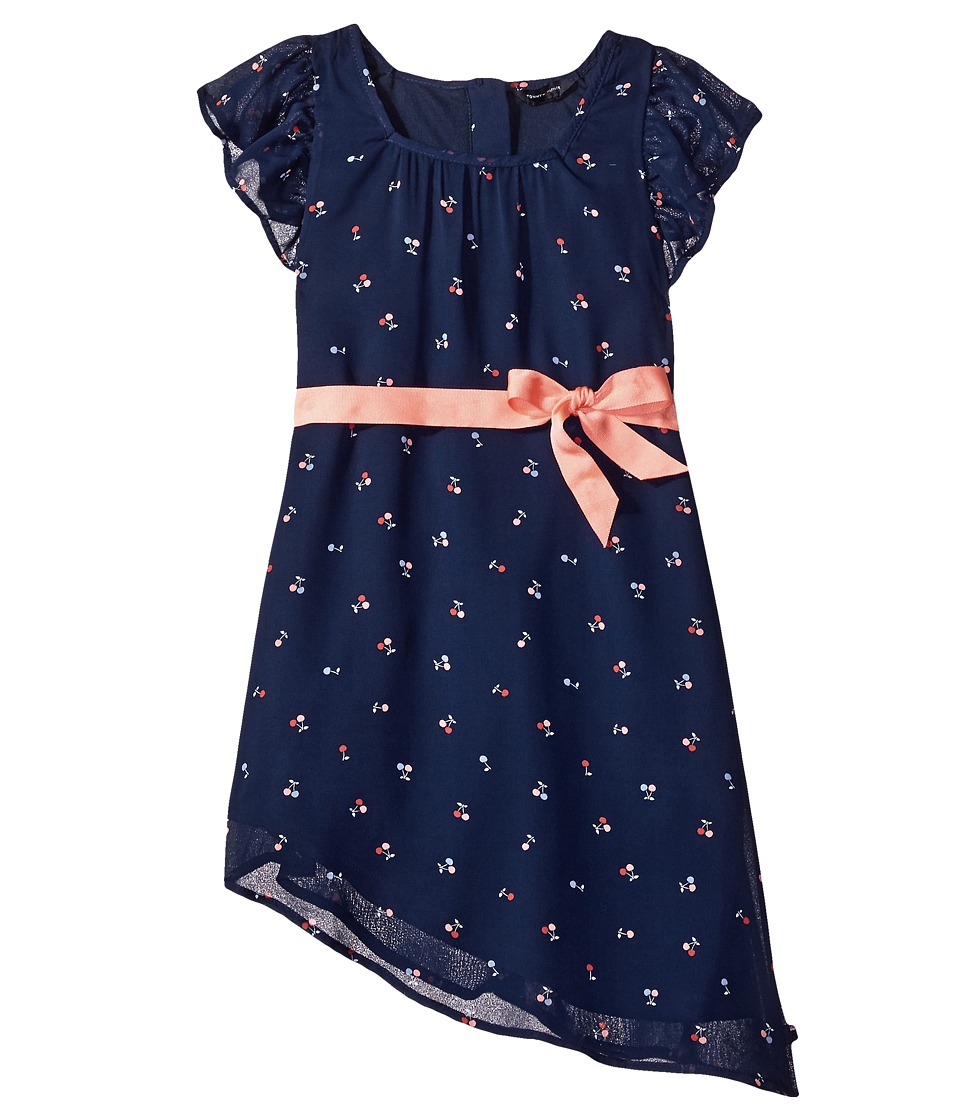 Tommy Hilfiger Kids - Cherry Printed Chiffon Dress (Little Kids) (Flag Blue) Girl's Dress