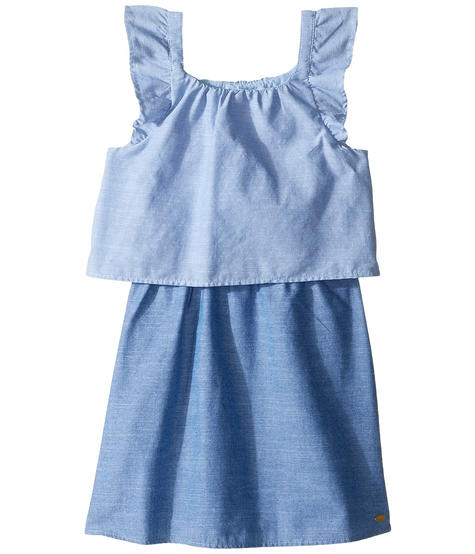 Tommy Hilfiger Kids - Two-Tone Chambray Top/Skirt Dress (Little Kids) (Blue Haze) Girl's Dress
