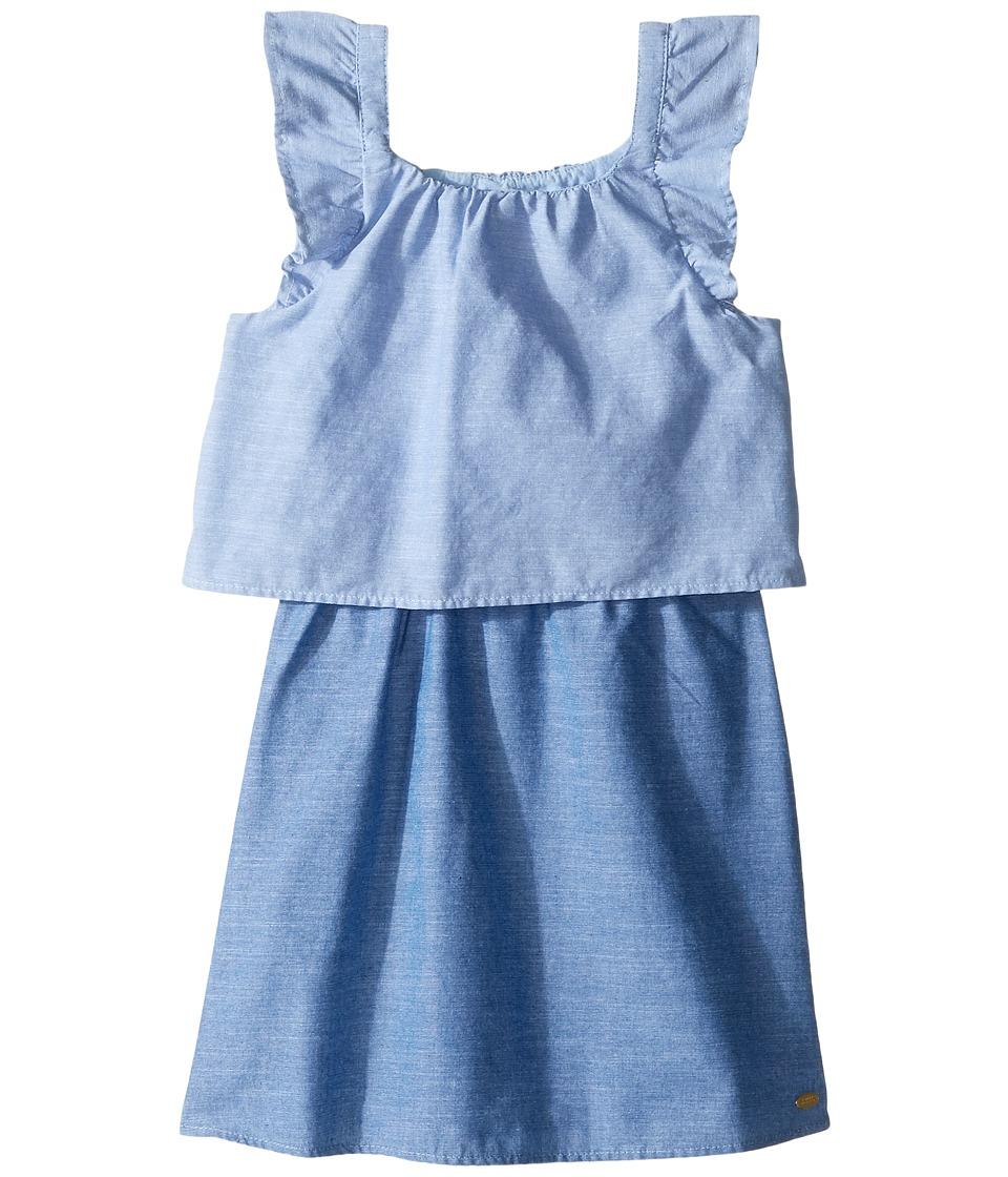 Tommy Hilfiger Kids - Two-Tone Chambray Top/Skirt Dress (Little Kids) (Blue Haze) Girl's Dress