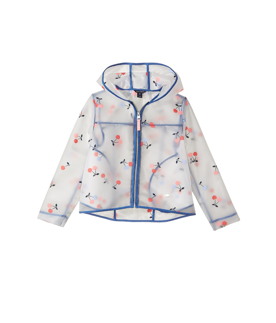 Tommy Hilfiger Kids Cherry Printed Rain Jacket (Little Kids) (White) Girl
