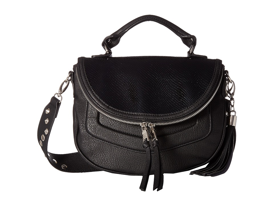 Steve Madden - Mini Roxy Snake (Black) Handbags