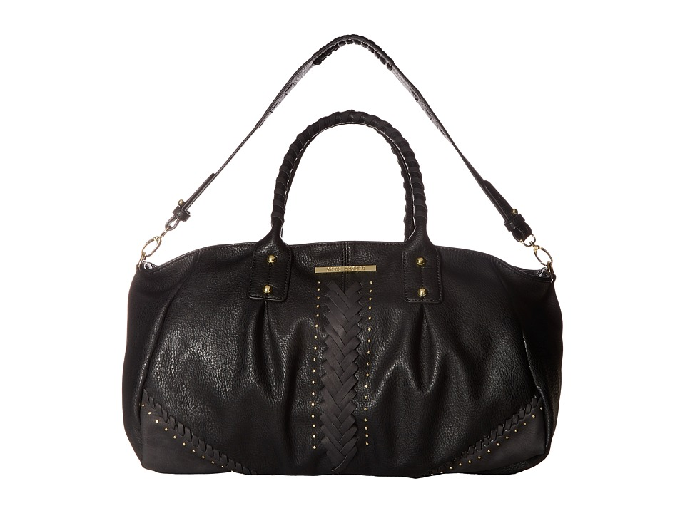 Steve Madden - Bginger Whip 3 Comp Satchel (Black) Satchel Handbags