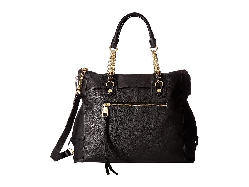 Steve Madden - BSocial Chain Satchel (Black) Satchel Handbags