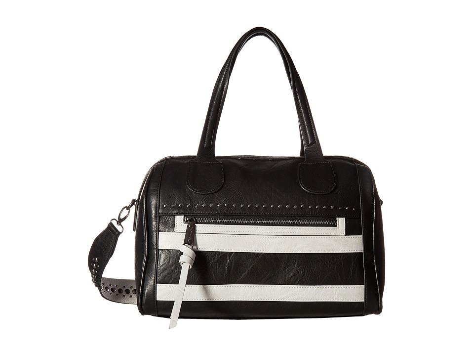 Steve Madden - Bscarlett Oversized Satchel (Black/Bisque) Satchel Handbags