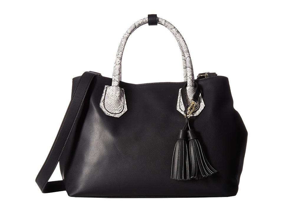 Steve Madden - Baudrina Snake Tote (Black Snake) Tote Handbags