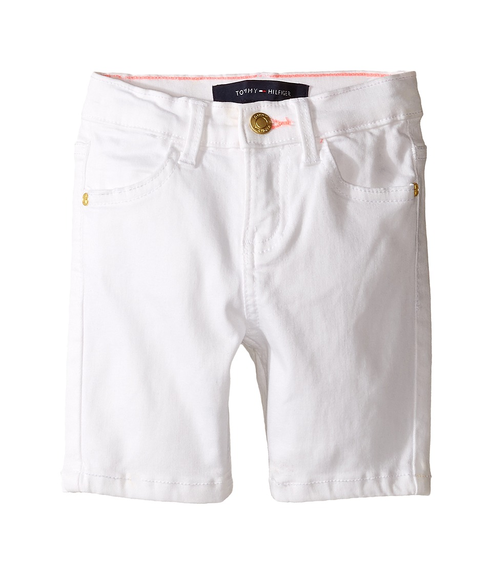 Tommy Hilfiger Kids - Classic Bermuda Shorts (Toddler) (White) Girl's Shorts